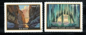 5429-5430 Big Bend & Grand Island Ice Caves Set Mint/nh FREE SHIPPING