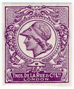 (I.B) Cinderella : De La Rue & Co - Minerva Head Essay (removed background)
