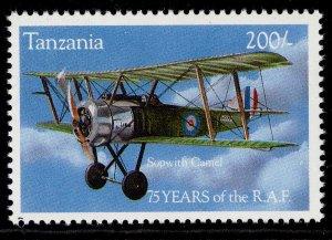 TANZANIA QEII SG1786, 1994 200s sopwith pup biplane, NH MINT.