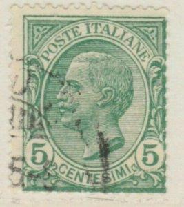Italy Kingdom 1906 King Victor III 5c Used A18P29F113