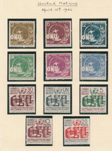 mexico  1946 mounted mint stamps cat £50+ ref r12730