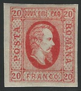 Romania, 1865, Scott #24, 20pa red, type I, mint, H., V.F.