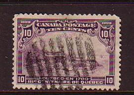 Canada Sc 101 1908 10 c view of Quebec 1700 stamp used