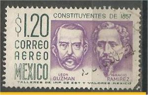 MEXICO, 1956, used 1.20p, Leon Guzman and Ignacio, Scott C237
