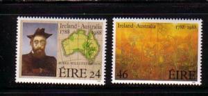 Ireland Sc 709-10 1988 Irish in Australia stamp set  mint NH