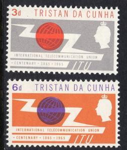 Tristan da Cunha  #85-86  1965  MNH    ITU