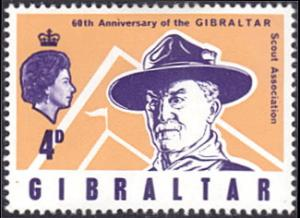 Gibraltar # 209 mnh ~ 4p Lord Baden-Powell