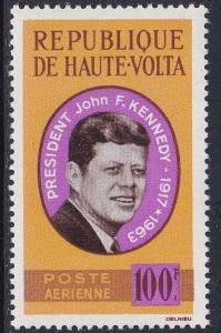Burkina Faso # C19, John F. Kennedy, NH, 1/2 Cat.