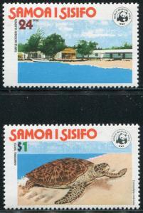 SAMOA #470-471 Nice Never Hinged Set - WWF World Wildlife Fund - B0140