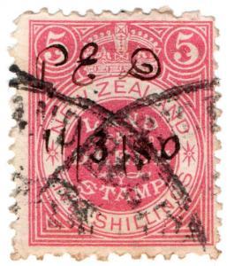 (I.B) New Zealand Revenue : Land & Deeds 5/-