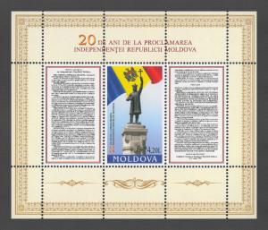 Moldova 2011 Declaration of Independence 20th Anniversary Block MNH
