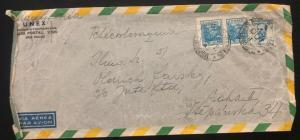1947 Sao Pablo Brazil Airmail Commercial Long Cover To Prague Czechoslovakia