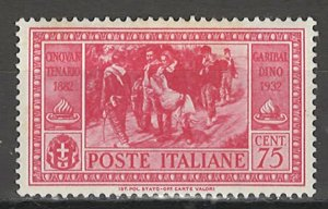 COLLECTION LOT # 4311 ITALY #285 MH 1932 CV+$16