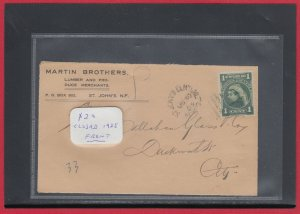 NFLD corner card St. John's Central 1905 Canada FRONT ONLY