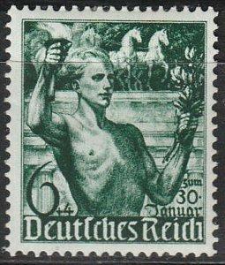 Stamp Germany Mi 660 Sc B116 1938 Fascism Adolf Torch Brandenburg Gate MH