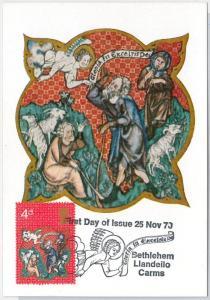RELIGION Art -  GB : MAXIMUM CARD 1970  Bethlehem Llandeilo Carms 4d