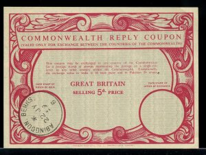 GREAT BRITAIN 5d -- International Reply Coupon IRC