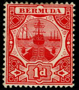 BERMUDA SG38, 1d Red, M MINT. Cat £25.