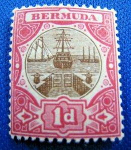 BERMUDA  1906  -  SCOTT # 34  -   MLH         (X6)