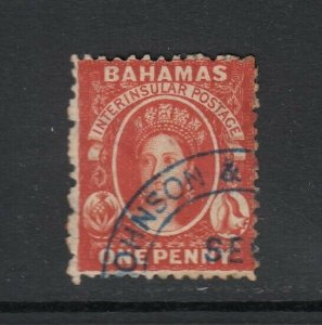 Bahamas, Sc 8 (SG 17), used (part of papermaker's watermark)