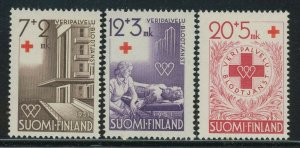 Finland 1951 Red Cross Hospital set Sc# B104-06 NH