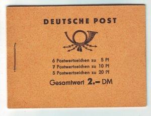 J22508 Jlstamps 1957-60 germany ddr complete bklt mnh #330c,333a,477b