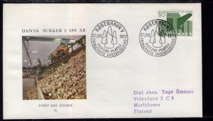 Denmark 487 Typed FDC