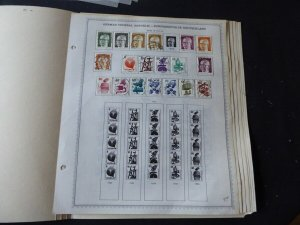 Germany 1971-1980 Stamp Collection on Album Pages