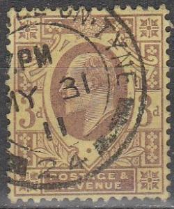 Great Britain #132 F-VF Used CV $19.00 (S7045)