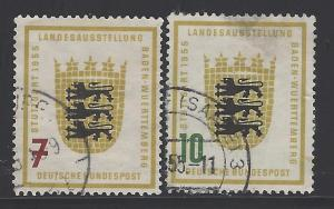 Germany Bund Scott # 729 - 730, used
