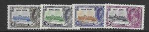 Hong Kong 147-50  1935  set 4  VF  LH