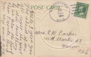 United States Ohio Mesopotamia 1910 4a-bar   PC.