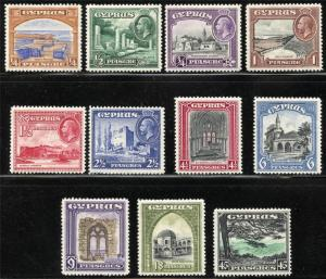 CYPRUS SCOTT# 125-35 SG# 133-43 MINT HINGED AS SHOWN