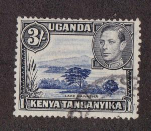 Kenya Uganda, # 82, 3 Shilling value, Used,1/2 Cat