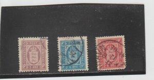Denmark  Scott#  O9A-O10  Used  (1899-1902 Official Stamp)