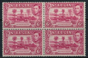 St. Lucia #119* NH Block of 4  CV $26.00