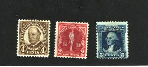 USA #685, 688, 710  Mint   3.80