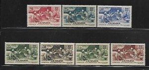 FRENCH GUINEA, 134-140, MINT HINGED, GUINEA WOMAN