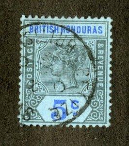 RK36355 BRITISH HONDURAS 52 USED SCV $3.50 BIN $1.55