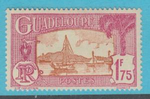 GUADELOUPE 130  MINT HINGED OG *   NO FAULTS  VERY FINE !
