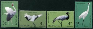 HERRICKSTAMP NEW ISSUES ROMANIA Sc.# 6049-52 Cranes