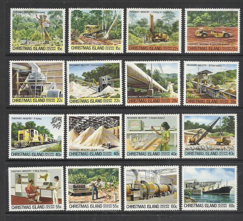 Christmas Island #95-110 comp mnh Scott cv $5.80
