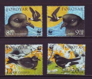 Faroe Islands Sc 458-61 2005 bird-petrel stamps mint NH