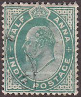 India 61 Used 1902 King Edward VII
