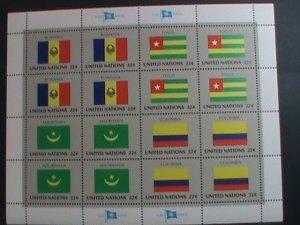 UNITED NATION-1986 SC#489-492 U. N. FLAGS SERIES MNH FULL SHEET- VERY FINE