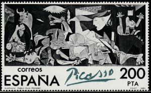 SPAIN 2252 SINGLE, CENTENARY OF THE BIRTH OF PICASSO, GUERNICA 1981, MNH VF. (1)