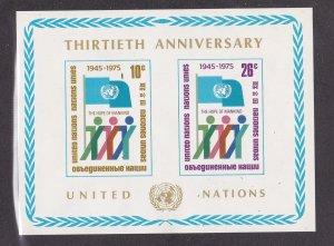 United Nations - New York # 262, 30th Anniversary Souvenir Sheet, NH, 1/2 Cat.