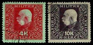 1916 Bosnia & Herzegovina #103-104 - USED - VF - CV$53.50 (ESP#2423)