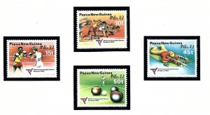 Papua New Guinea 571-74 MNH 1982 Commonwealth Games