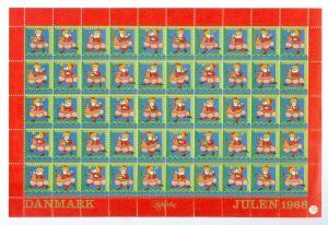 Denmark. Christmas Seals 1968 Unfolded Sheet Mnh. Santa.Bjorn Wiinblad.4 Side P.
